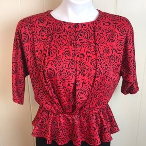Vintage Dresses - Vintage 70s/80s Disco Batwing Office Dress